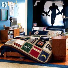 Para los jovenes deportistas es bueno tener un cuarto que les recuerde su deporte favorito