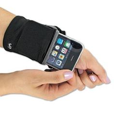 Keep cash, cards and your phone secure on your wrist while jogging.