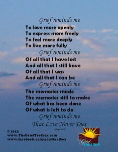 Grief reminds me that love never dies & life is too short - A Poem Grief Poems, Funeral Poems, Miss You Dad, Pomes, Grieving Quotes, Grief Support, Love Never Dies, Memories Quotes, After Life