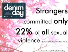 It's What We Know Wednesday! Have you checked out the Colorado Denim Day website at www.coloradodenimday.org? Take a look, then share this pic and help spread the facts about sexual violence