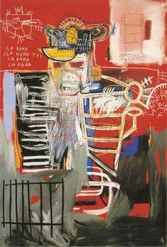 Jean-Michel Basquiat Retrospective @ Gagosian Gallery (New York) - La Hara, 1981 Acylic and oil paintstick on canvas (183 x 212,5 cm)