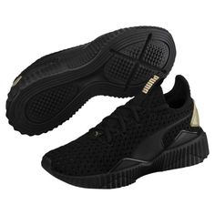 new concept 3cacb 43947 Image 1 of Zapatos deportivos Defy Varsity para mujer, Puma Black-Metallic  Gold,