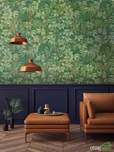 Fresh & Classy Living Room Ideas / Wood Tailors Club - Fresh & Classy Living Room Inspiration – Be inspired by the most stylish and distinct decoration - Kitchen Wallpaper, Green Wallpaper, Paper Wallpaper, Wall Wallpaper, Bold Living Room Wallpaper, Fornasetti Wallpaper, Forest Wallpaper, Bedroom Wallpaper, Architecture