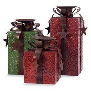 IMAX 3 Piece Yule Love It Candle Holder Package Set