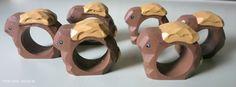 OSTERN Set mit 6 handmade HOLZ Serviettenringe & 20 seltene HAPPY EASTER Servietten  www.angel-bazar.com/item.php?id=31309