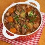 Classic Beef Bourguignon!  This classic Beef Bourguignon recipe is the perfect dish to make if you have a crowd to feed or if you are simply craving a hearty, filling meal. It takes just under 3 hours to make and serves 4.
