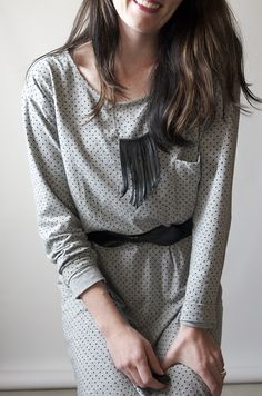 super cool DIY necklace // polka dot dress