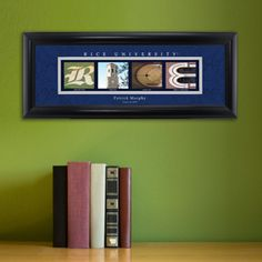 Architectural Photo Art of Rice University personalized with a name and date in a Framed Print. Available from Arttowngifts.com.