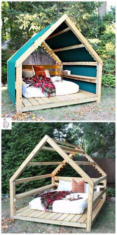 DIY Garden Upgrade Projects Kids Outdoor Activity - DIY Outdoor Cabana Lounge Tutorial