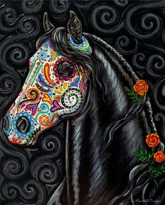 Day of the Dead horse