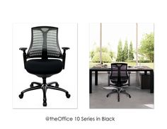 Enjoy the view with our @theOffice 10 Series chair in Black! :)  http://attheoffice.com/products/seating-by-series/10-series/