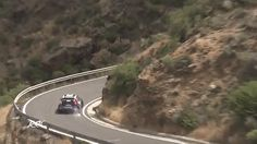 Guardrail Saves Rally Car From Falling off a cliff
