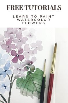 Snowberry Design Co – FREE watercolor video tutorials. Watercolor Paintings For Beginners, Art Watercolor, Watercolor Video, Watercolor Techniques, Watercolor Art Lessons, Watercolor Portraits, Watercolor Landscape, Beginning Watercolor, Beginner Painting