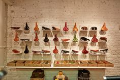 The new Brooks Store in London just opened - order your custom coloured saddles in the basement