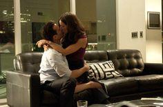 Hot damn! Harvey lays a major kiss on Abigail Spencer's Scotty here.