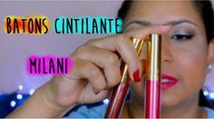 Batons matte metálicos cintilante da Milani Cosmeticos  - Resenha por  R...