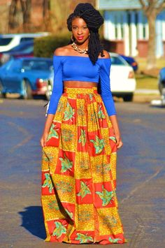 Bright colorful outfit