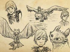 How to Train Your Dragon SketchDump by EmpatheticFrog.deviantart.com on @deviantART