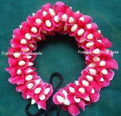 Artificial petals veni made with artificial pink petals and artificial jasmine buds.