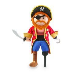 Tellatale Pirate Story Time or Play Hand Puppet. A great little bed time story prop! Imagine the fun you could have reading tales of stormy seas and treasure through this little character! Pirate Crafts, Puppet Toys, Hand Puppets, Imaginative Play, Bedtime, Minions, Kids Toys, Disney Characters, Fictional Characters