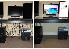 The Pinterest 100: Home; How to clean up the bird's nest of cables and wires…