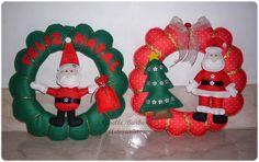 Giselle Barbosa Artesanatos: Guirlandas de Natal em feltro III