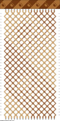 Friendship bracelet - pattern 23033 - 20 strings 2 colours - paws