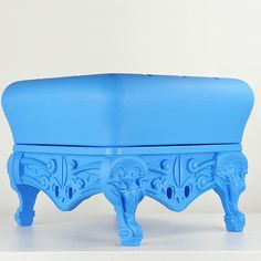 Little Prince of Love Ottoman in Ethereal Blue from PoshTots