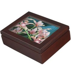 Tropical Orchids Floral Memory Box - home gifts ideas decor special unique custom individual customized individualized