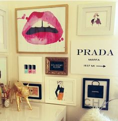 frame wall. I'd love my closet or office to look like this!!