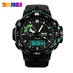 Watches Skmei Sport Watch Fashion Outdoor World Time Summer Countdown Waterproof Digital Wristwatches Men Compass Military Watches 2019 Neither Too Hard Nor Too Soft