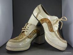 484821723dd Vintage 70s Men s PLATFORM SHOES Size 8 RAVEL - T. Rex