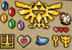 Legend of Zelda Perler: More Magnets, Keychains and Necklaces! | redditgifts