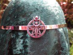 Moon Goddess on Silver Circlet.  She holds by SpiritoftheGoddess, $43.00