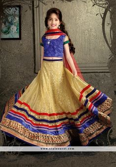 Buy Beige And Blue Net Kids Navratri Lehenga Choli online in India at best price.tem Name Beige and Blue Net Kids Navratri Lehenga Choli Fabric Net Color Blue, Beige Occasion Wedding, Kids Lehenga Choli, Lehenga Style Saree, Lehenga Choli Online, Sari, Lehenga Blouse, Girls Party Wear, Kids Wear, Cute Little Girl Dresses, Lehenga Wedding