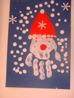 Handprint Santa Claus for #Christmas!  #kidscraft