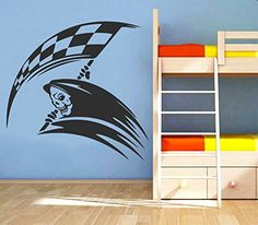 Wall Vinyl Sticker Decal Death with Racing Flag Nursery Room Nice Picture Decor Mural Hall Wall Ki549 Thumbs up decals http://www.amazon.com/dp/B00L6AX046/ref=cm_sw_r_pi_dp_vSt2tb0WXPS508JS