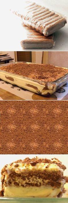 Tiramisu Sweet Recipes, Cake Recipes, Dessert Recipes, Delicious Deserts, Yummy Food, Tiramisu Trifle, Cakes And More, Cupcake Cakes, Biscuits