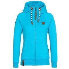 Spring 2017 Women Hoodie Sweatshirts Zipper Long-Sleeved Outwear Loose Women Tops Pocket Pure Solid