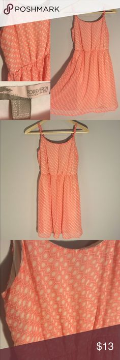 NWOT F21 Chiffon Sundress This bright colored patterned dress is perfect for spring! It's light chiffon fabric makes it flowy and fashionable. It is fully lined and the straps are adjustable. Never worn! Women's size S from Forever21. Forever 21 Dresses Mini