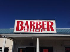 Custom sign for our neighboring barber shop
