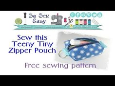 How to sew a Teeny Tiny keyring zipper pouch