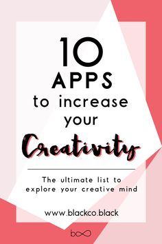The ultimate list of apps to explore your creative mind the easy, fun and quick way. Discover my favorite creative apps.