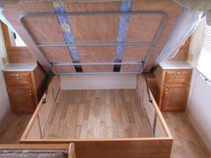 Under bed storage under bed and bed storage on pinterest - Lift up under bed storage ...