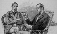 Sherlock Holmes and Dr. John Watson by original illustrator, Sydney Paget - 1891