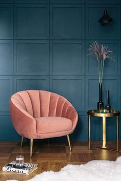 Art deco scalloped velvet accent chair deco interior living room 10 Interior 2020 Trends That Will Be Carrying On Next Year: Art Deco Accent Chair Salon Art Deco, Art Deco Home, Art Deco Decor, Art Deco Colors, Art Deco Design, Art Deco Living Room, Living Room Chairs, Dining Chairs, Art Of Living