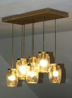 Weckpotten lamp, gemaakt door manlief!