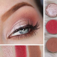 Happy Sunday to you! ☀️ If you've been looking for a way to wear MUG's Razzleberry, try this softer version ... more looks available on the website today! MUG Starry-Eyed: on the lid MUG Frappe: crease MUG Razzleberry: lightly blended into crease MAC Teddy to line waterline MUG Frappe smudged on lower lash line #motd #eotd #redeyeshadow #makeup #makeupgeek #neutralmakeup #warmtones #pictorial #Tutorial #swatches #razzleberry Makeup Geek, Makeup Inspo, Makeup Tips, Eye Makeup, Red Eyeshadow, Eyeshadow Palette, Neutral Makeup, Lower Lashes, Make Up