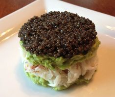 Caviar Recipe: Caviar, Crab and Avocado Tower 1 Seafood Recipes, Gourmet Recipes, Cooking Recipes, Cooking Ideas, Osetra Caviar, Caviar Recipes, Avocado, Fish And Seafood, Food For Thought