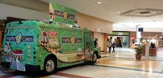 Waffle Cakes truck inside mall.